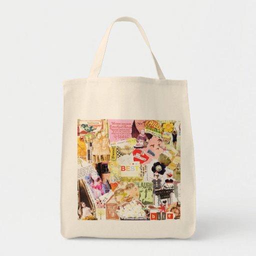 Bolso de la felicidad bolsa tela para la compra