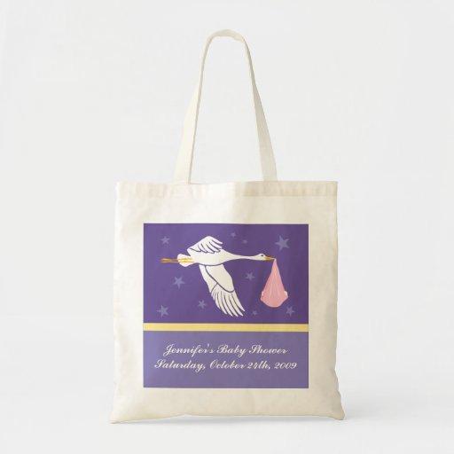 Bolso de la fiesta de bienvenida al bebé - púrpura bolsas