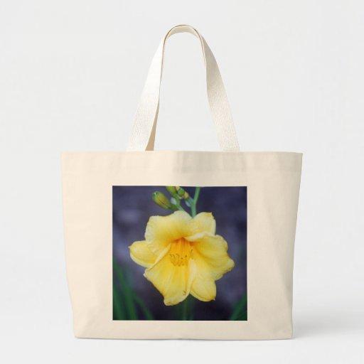 Bolso de la flor bolsa tela grande