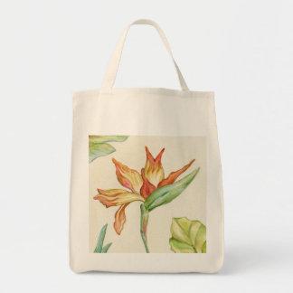 Bolso de la flor de la ave del paraíso bolsa tela para la compra