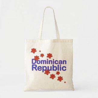 Bolso de la flor de la República Dominicana Bolsa Tela Barata