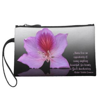 Bolso de la flor del árbol de orquídea con cita