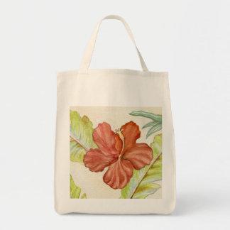 Bolso de la flor del hibisco bolsa tela para la compra