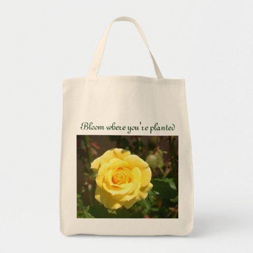 Bolso de la floración bolsa tela para la compra