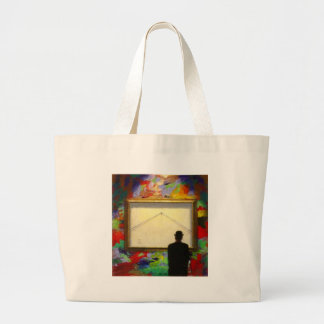 Bolso de la galería de la pintura de pared bolsa tela grande