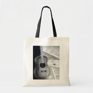 Bolso de la guitarra y de la partitura bolsas de mano