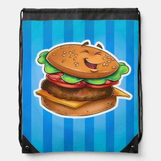 Bolso de la hamburguesa del dibujo animado mochila