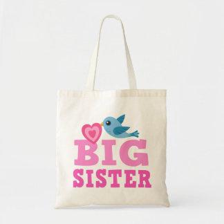 Bolso de la hermana grande con el pájaro y el cora