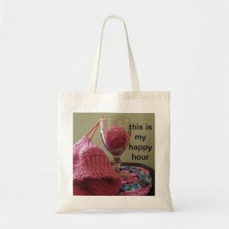 Bolso de la hora feliz que hace punto bolsa tela barata
