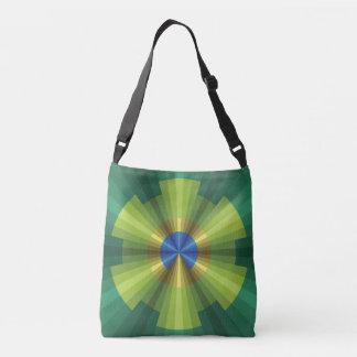 Bolso de la impresión de la ilusión del pavo real bolsa cruzada