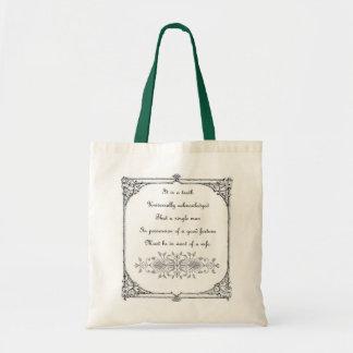 Bolso de la inspiración de Jane Austen Bolsa Tela Barata