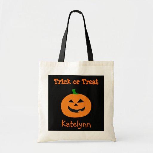Bolso de la invitación de la calabaza de Halloween Bolsas