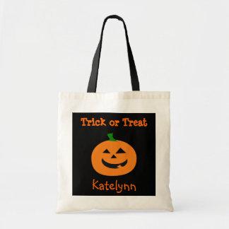 Bolso de la invitación de la calabaza de Halloween Bolsa Tela Barata