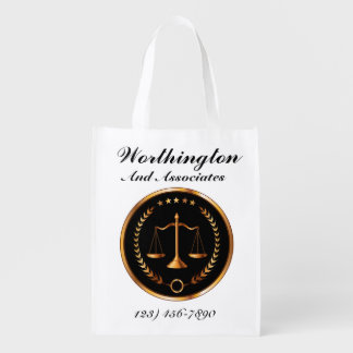 Bolso de la invitación del bufete de abogados bolsas de la compra