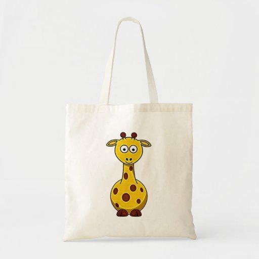 Bolso de la jirafa del dibujo animado bolsas de mano