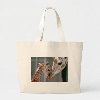 Bolso de la jirafa y del bebé bolsa tela grande