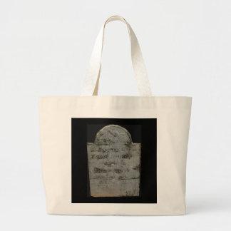 Bolso de la lápida mortuoria bolsa tela grande