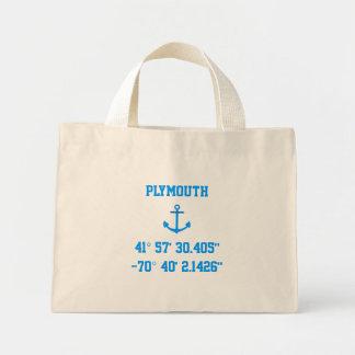 Bolso de la latitud y de la longitud de Plymouth M Bolsas Lienzo