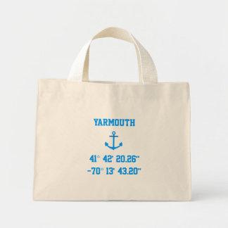 Bolso de la latitud y de la longitud de Yarmouth M Bolsas