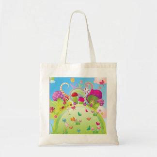 Bolso de la lona: Candyland Bolsa Tela Barata