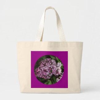Bolso de la lona, círculo de la lila # 3 bolsa tela grande