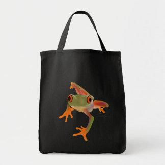 Bolso de la lona de Crazy Frog Bolsa Tela Para La Compra
