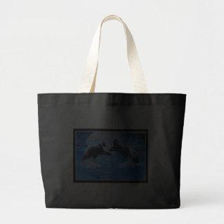 Bolso de la lona de la foto de la ballena bolsa tela grande