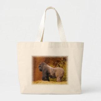 Bolso de la lona de la foto del gorila del Silverb Bolsa Tela Grande