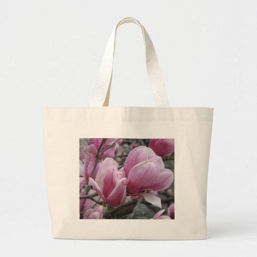 Bolso de la lona de la magnolia bolsa tela grande