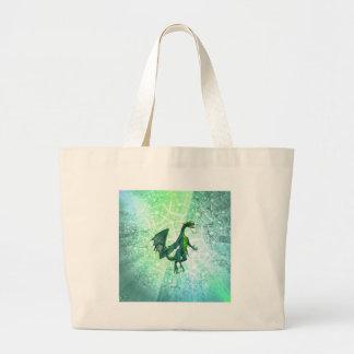 Bolso de la lona de la respiración de los dragones bolsas de mano