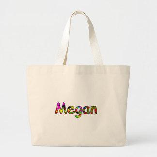 Bolso de la lona de Megan Bolsa Tela Grande