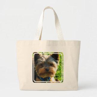 Bolso de la lona de Yorkshire Terrier Bolsa De Mano