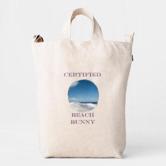 Bolso de la lona del conejito de la playa bolsa de lona duck