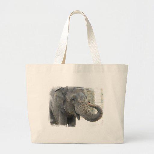 Bolso de la lona del elefante el tocar la trompeta bolsas