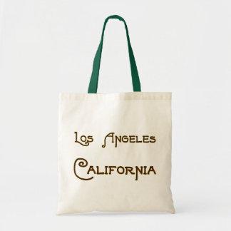 Bolso de la lona del logotipo de Los Ángeles Calif Bolsa Tela Barata