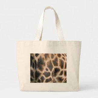Bolso de la lona del modelo del estampado de giraf bolsas