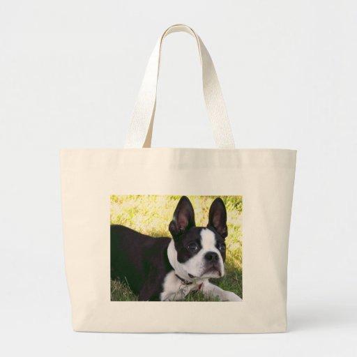 Bolso de la lona del perrito de Boston Terrier Bolsa