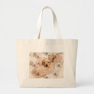 Bolso de la lona del perrito del golden retriever bolsa de mano