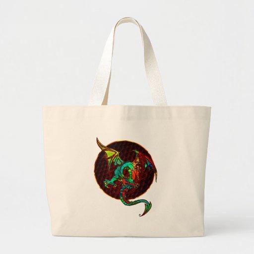 Bolso de la luna del dragón bolsa lienzo