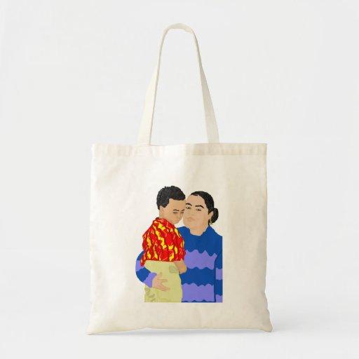 Bolso de la madre y del hijo bolsa tela barata