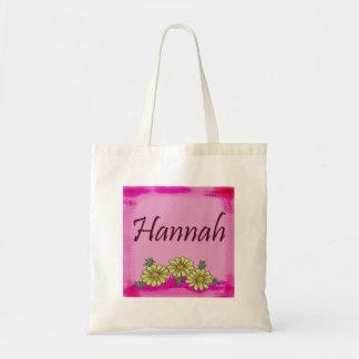 Bolso de la margarita de Hannah Bolsa Lienzo