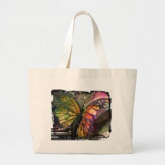Bolso de la mariposa bolsa tela grande