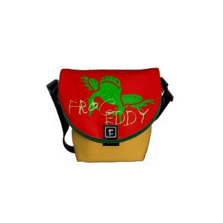 bolso de la moda del niño del remolino de la rana bolsas de mensajeria