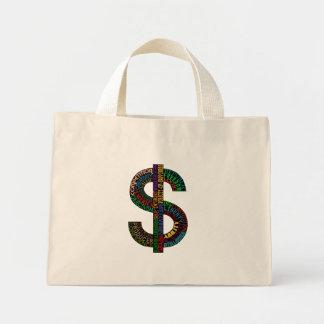 Bolso de la muestra de dólar bolsa tela pequeña