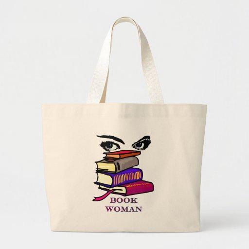 Bolso de la mujer del libro bolsa tela grande