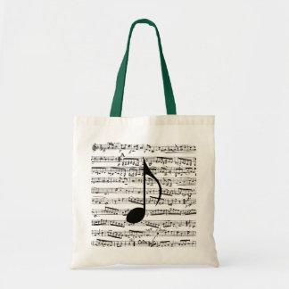 Bolso de la música de las notas musicales bolsa tela barata