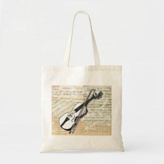 Bolso de la música del violín del vintage bolsa tela barata