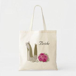 Bolso de la novia del boda bolsa tela barata