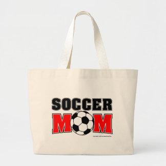 Bolso de la obra clásica de la mamá del fútbol bolsa tela grande