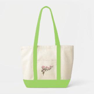 Bolso de la obra clásica de la rama de la cereza bolsa tela impulso